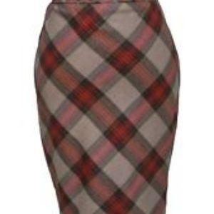 Ted Baker London Tartan Pencil Skirt Size 1